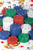 Casino chips and cards Stock Photo