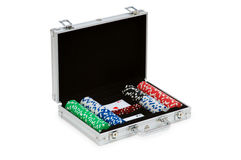 Casino chips and cards Royalty Free Stock Images