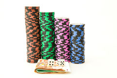 Casino chips with Euro Stock Images