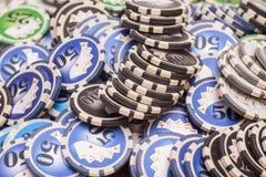 Casino chips- gambling concept Stock Photos