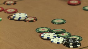 Casino Chips stock video footage