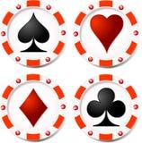 Casino chips Stock Photos