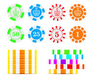 Casino chips illustration Royalty Free Stock Photo