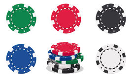 Casino chips. Illustration of casino chips on white background royalty free illustration