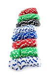Casino chips isolated Stock Image