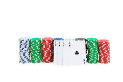 Casino chips isolated Royalty Free Stock Image