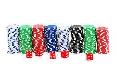 Casino chips isolated Royalty Free Stock Photo
