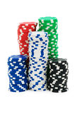 Casino chips isolated royalty free stock images