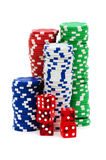Casino chips isolated Stock Photo