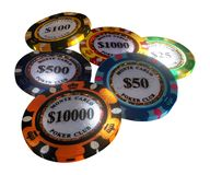 casino chips isolated on white background vector illustration