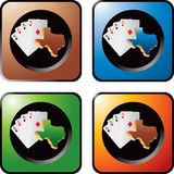 Casino chips on multicolored web buttons Royalty Free Stock Photos