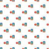 Casino chips pattern, cartoon style. Casino chips pattern. Cartoon illustration of casino chips vector pattern for web Stock Photos