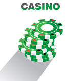 Casino Chips Pile Background, Vector Illustration Royalty Free Stock Image