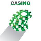 Casino Chips Pile Background, Vectorillustratie Royalty-vrije Stock Afbeelding