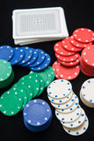 Casino chips for play in card game Stock Photography