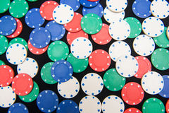Casino chips for play in casino Royalty Free Stock Image