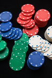 Casino chips for play in casino Royalty Free Stock Photo