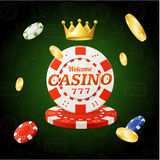 Casino Chips Sign. Vector Royalty Free Stock Photo