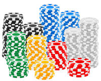 Casino chips stack Royalty Free Stock Image