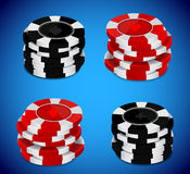 Casino chips stack Royalty Free Stock Images