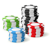Casino chips stacks - gambling chips Stock Images