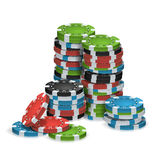 Casino Chips Stacks Isolated Vector Photos libres de droits