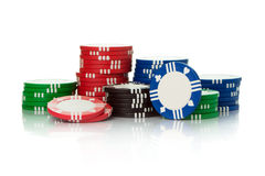 Casino chips Stock Photos