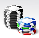Casino chips stacks Royalty Free Stock Image