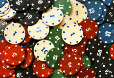 Casino chips tokens illegal gambling Royalty Free Stock Image