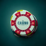 The Casino. Casino chips top view, eps 10 Stock Photos