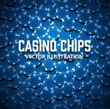Casino chips top view with shadows. Illustartion of casino chips top view with shadows Royalty Free Stock Photo