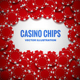 Casino chips top view with shadows. Illustartion of casino chips top view with shadows Stock Photography