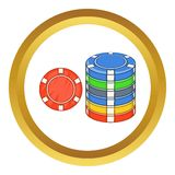 Casino chips vector icon Royalty Free Stock Photo