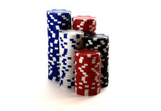 Casino chips  on white background Royalty Free Stock Photo