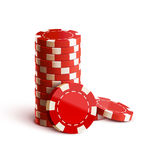 Casino chips  on white realistic theme Royalty Free Stock Photo