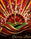 Casino Christmas background Royalty Free Stock Images