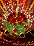 Casino Christmas card Royalty Free Stock Photography