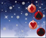 Casino Christmas card with balls.  Royalty Free Stock Photography