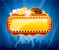 Casino city background Royalty Free Stock Images