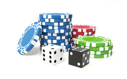 Casino complect Royalty Free Stock Photography