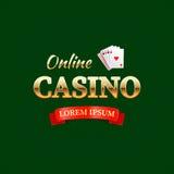 Casino - conceito do logotype, casino em linha ilustração do vetor
