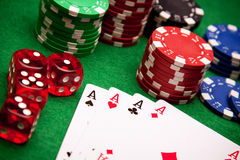 Casino Concept background Royalty Free Stock Photos