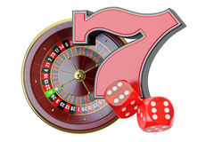 Casino concept. 3D rendering Stock Photography