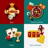 Casino Concept Set Royalty Free Stock Photos