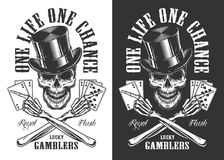 Casino concept with skull royalty free illustration