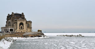 The Casino from Constanta. In the winter time Royalty Free Stock Image