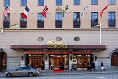 Casino Cosmopol gambling in Stockholm. Stockhomlm, Sweden - October 4, 2017: The building exterior  and entrance to casino Casino Cosmopol operated by Svenska Royalty Free Stock Image