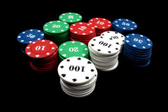 Casino Counters Stock Image