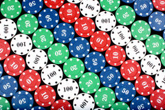 Casino Counters Background Stock Photography