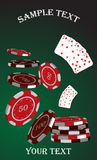 Casino counters Stock Photography
